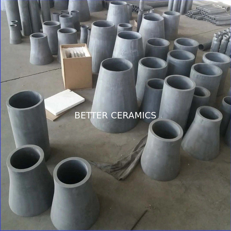 SISIC Silicon Carbide Ceramic Liner / RBSIC Liner Wear Resistance Material